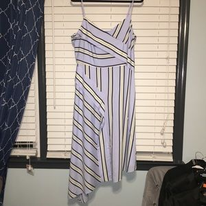 NWT Banana Republic Powder Preppy Stripe Dress 14